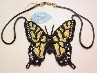 A. Chael Original Yellow Swallow Butterfly Necklace