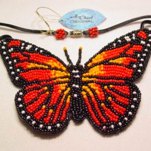 A. Chael Original Monarch Butterfly Necklace
