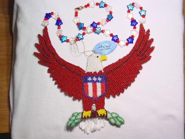 A. Chael Original Patriotic Eagle Necklace