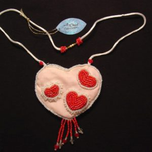 A. Chael Original Heart Amulet Pouch Necklace
