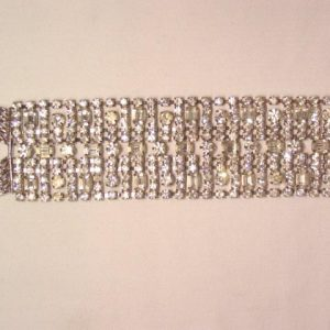 Fantastic Wide Rhinestone Bracelet