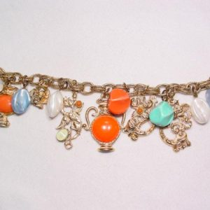 Egyptians and Dragons Charm Bracelet