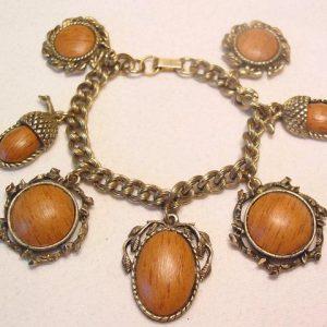 Imitation Wood Charm Bracelet
