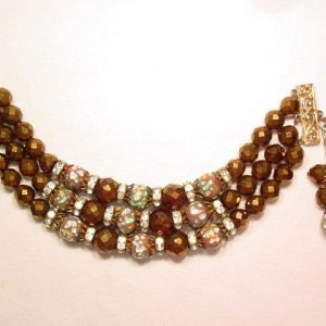 Brown and Murano Beaded Bracelet