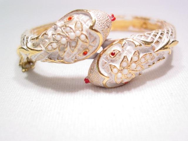 Art White Snake Bracelet