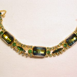Beautiful Green and Aurora Borealis Bracelet