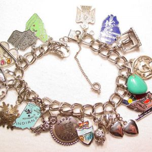 Sterling Charm Bracelet with 18 Charms