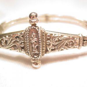 Unusual Silvertone India Bracelet