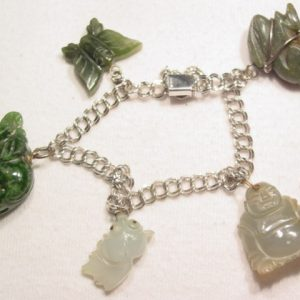 Jade and Sterling Charm Bracelet