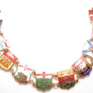 Enameled Shields of Canada Bracelet