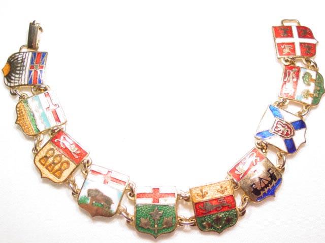 Enameled Shields of Canada Bracelet