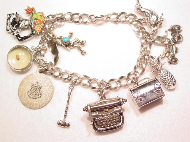Sterling Charm Bracelet with 10 charms