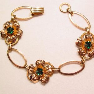 Van Dell Gold-Filled Floral Bracelet