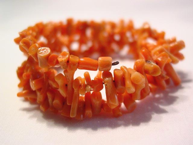 Wire-Wrap Coral Bracelet