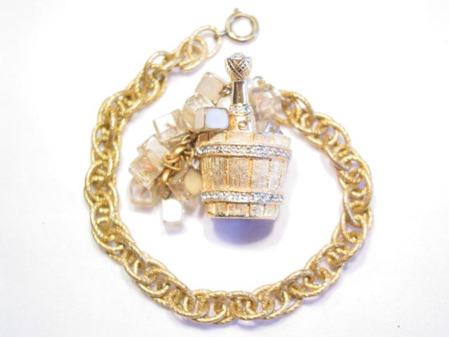 Champagne and Ice Bucket Bracelet