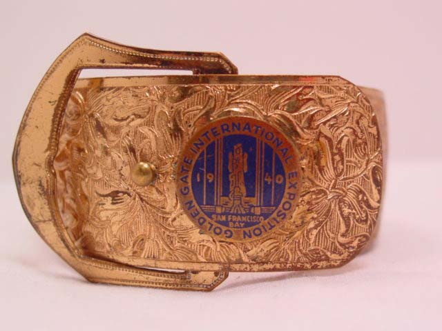 1940 Golden Gate International Exposition Wide Buckle Bracelet