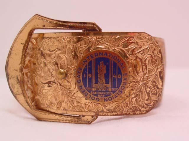 1940 Golden Gate International Exposition Wide Buckle Bracelet