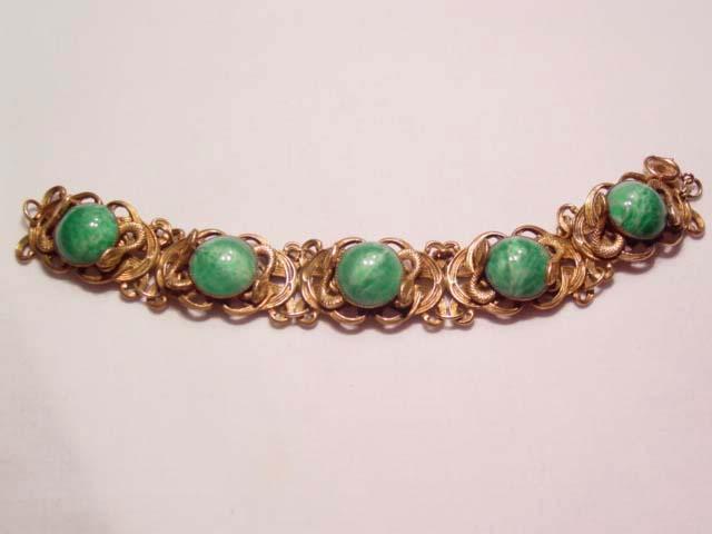 Egyptian-Influenced Snake Bracelet