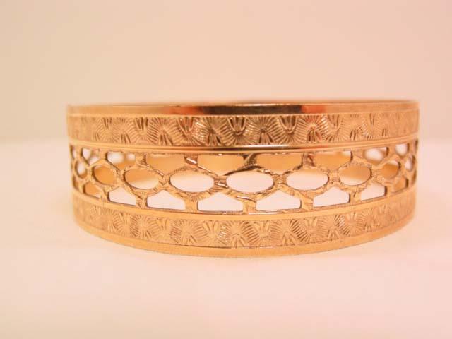 Goldtone Filigree Bangle Bracelet