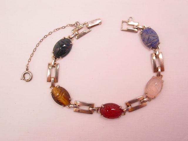 Rectangle Link Scarab Bracelet