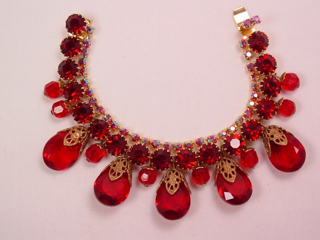 Absolutely Fantastic Ruby-Red Bracelet