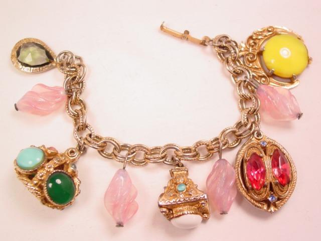 Chunk Colorful Rhinestone Charm Bracelet