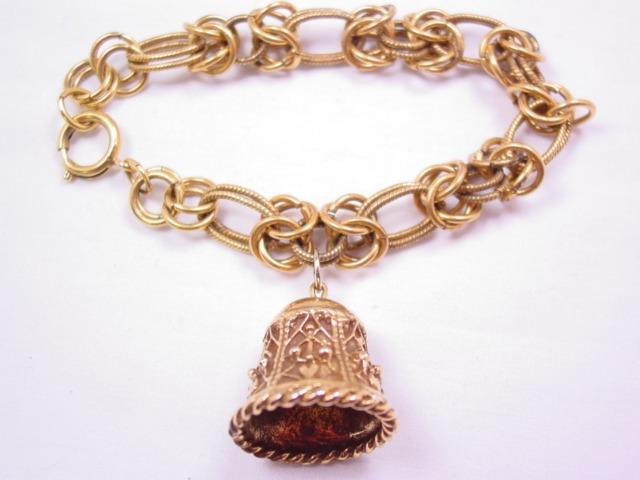 Goldtone Bell Bracelet