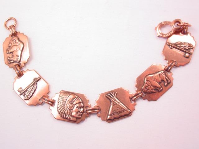 Copper Indian Motif Bracelet