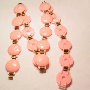 Faceted Pink Plastic Belt