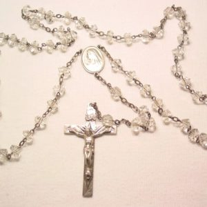 Beautiful Crystal and Sterling Rosary