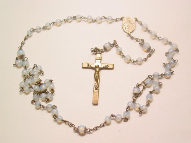 Blue Moonstone Rosary