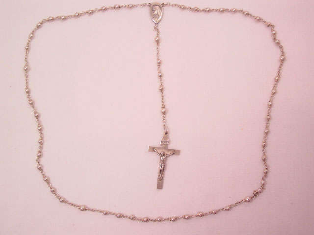 Small Delicate Sterling Rosary