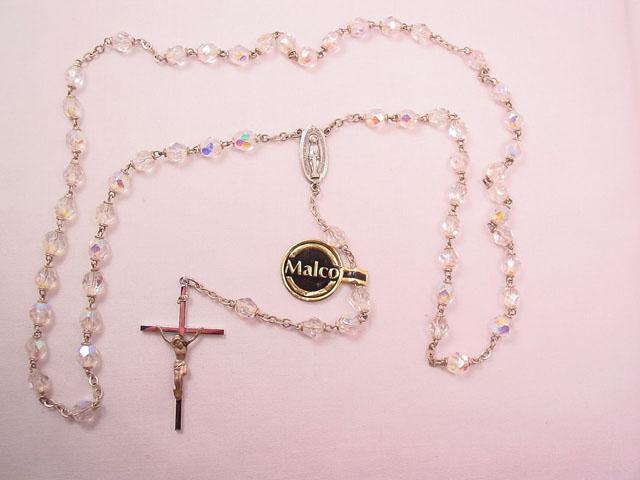 Malco Sterling and Aurora Borealis Rosary