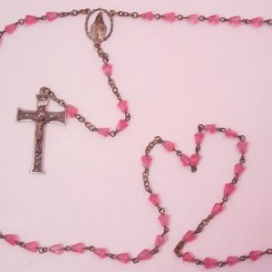 Pink Glass Rosary