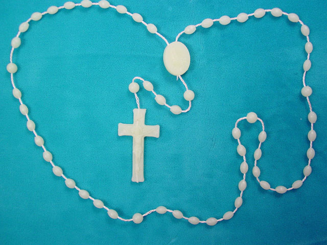 Plastic Glow-In-The-Dark Rosary