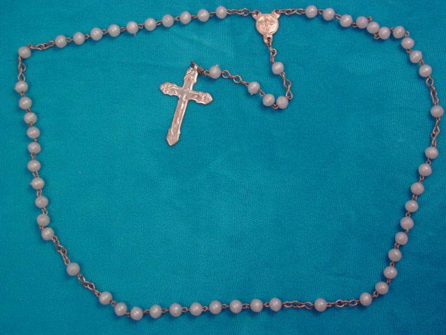 Plastic Pearl Rosary