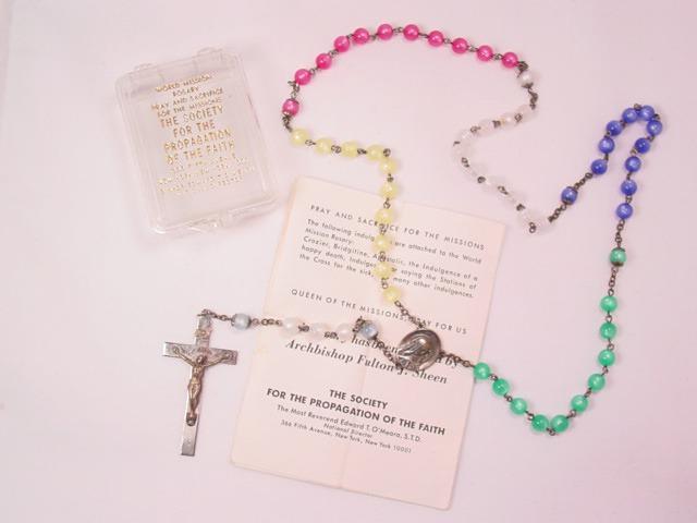 Multicolor Moonglow Rosary in Original Box