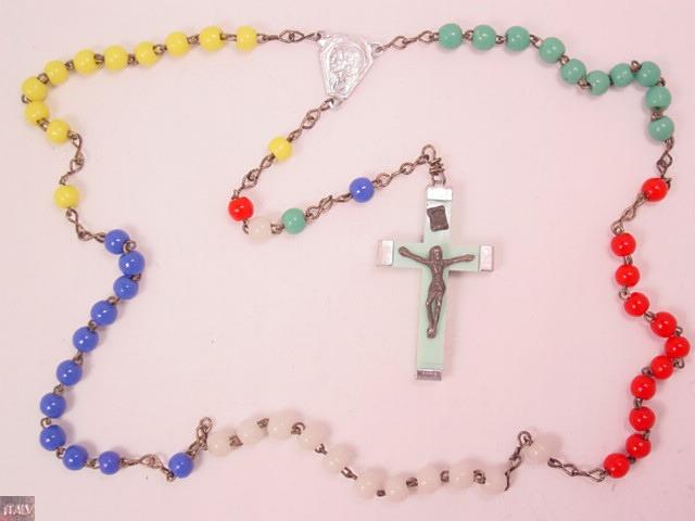 Multi-Color Glass Rosary