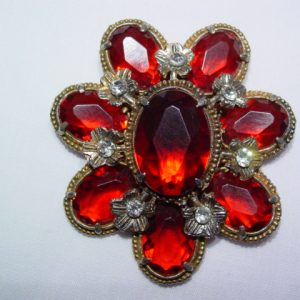 1930s Red Plastic Dress Clip