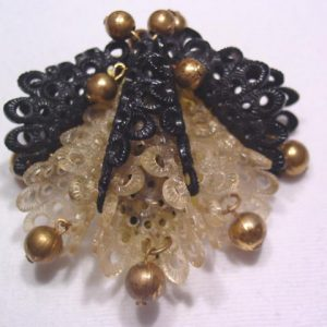 Old Filigree Plastic Dress Clip