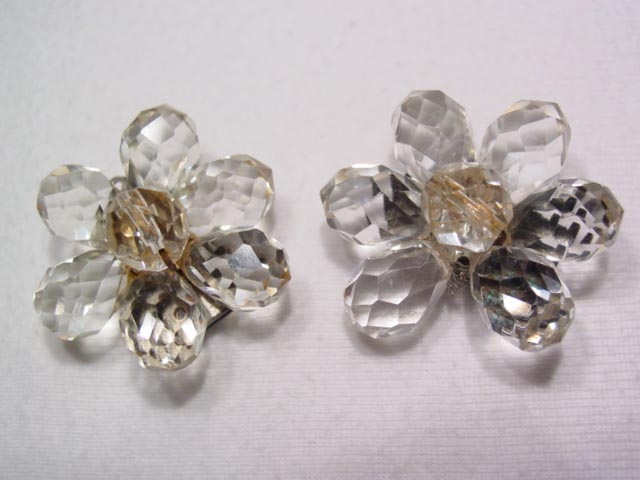 Beautiful Crystal Flower Dress Clips