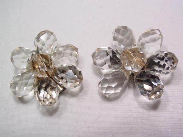 Beautiful Crystal Flower Dress Clips