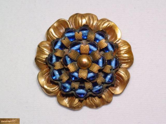 Ranschoffs' Blue Glass Bead Dress Clip