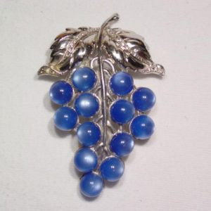 Blue Moonglow Grape Fur Clip
