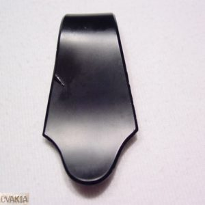 Black Glass Cechoslovakia Dress Clip
