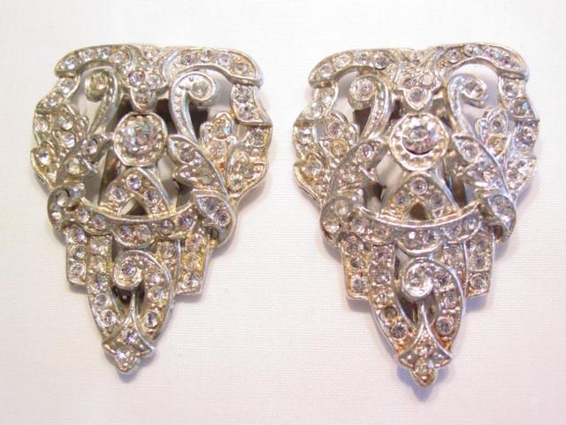 Triangular Rhinestone Dress Clips