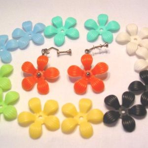 Soft Plastic Interchangeable Flower Earrings