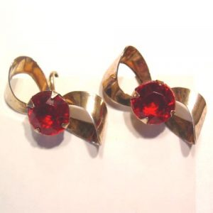 Gold Washed Sterling Bow Earrings