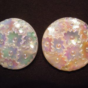 Floral Aurora Borealis Molded Earrings