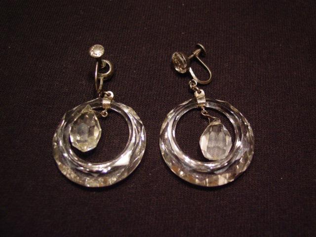 Crystal Loop and Drop Earrings